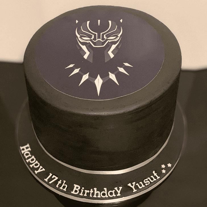 Enthralling Black Panther Cake