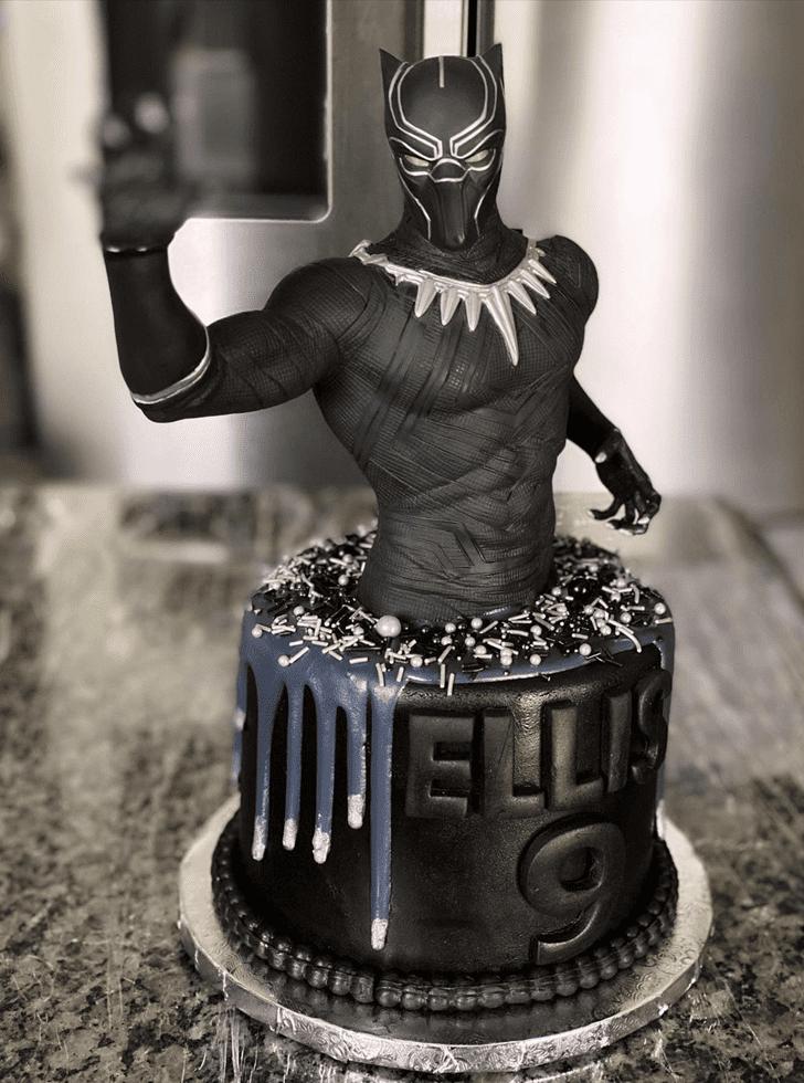 Enticing Black Panther Cake