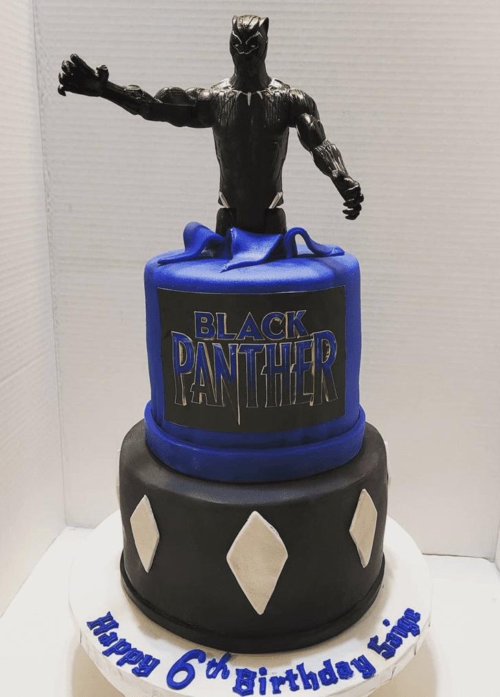 Handsome Black Panther Cake