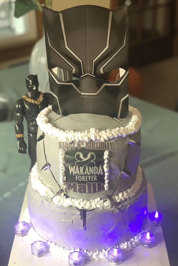 Magnificent Black Panther Cake