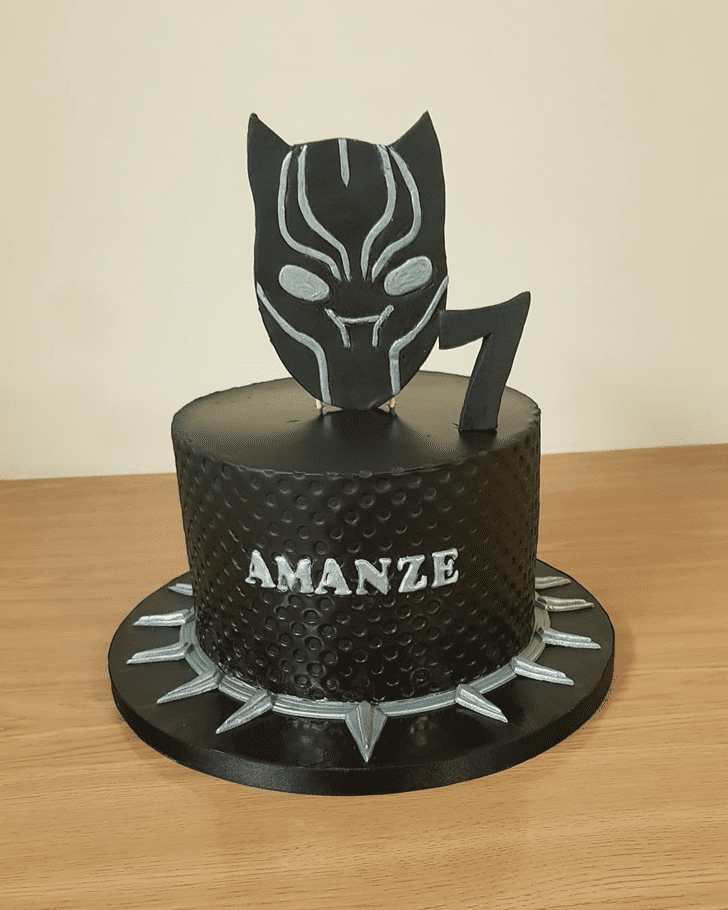 Refined Black Panther Cake