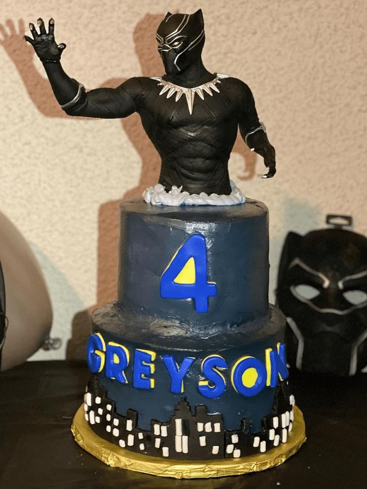 Slightly Black Panther Cake