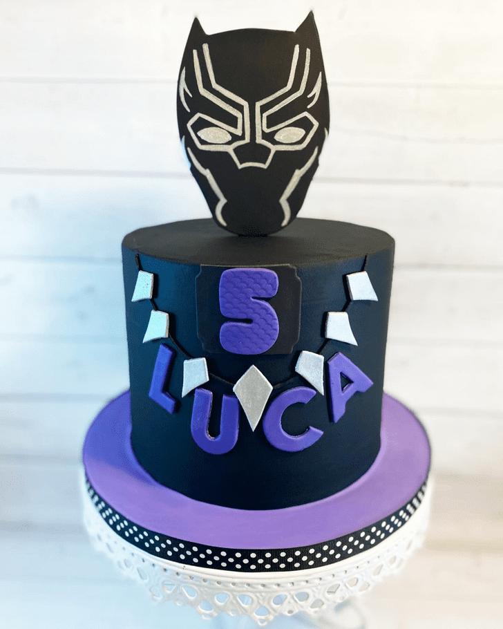Superb Black Panther Cake