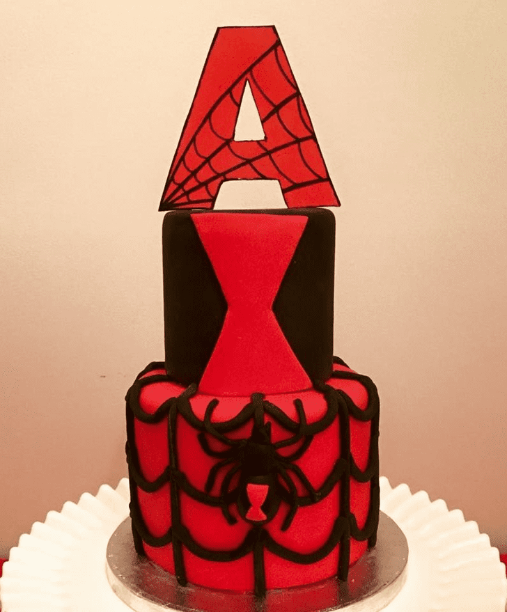 Admirable Black Widow Cake Design