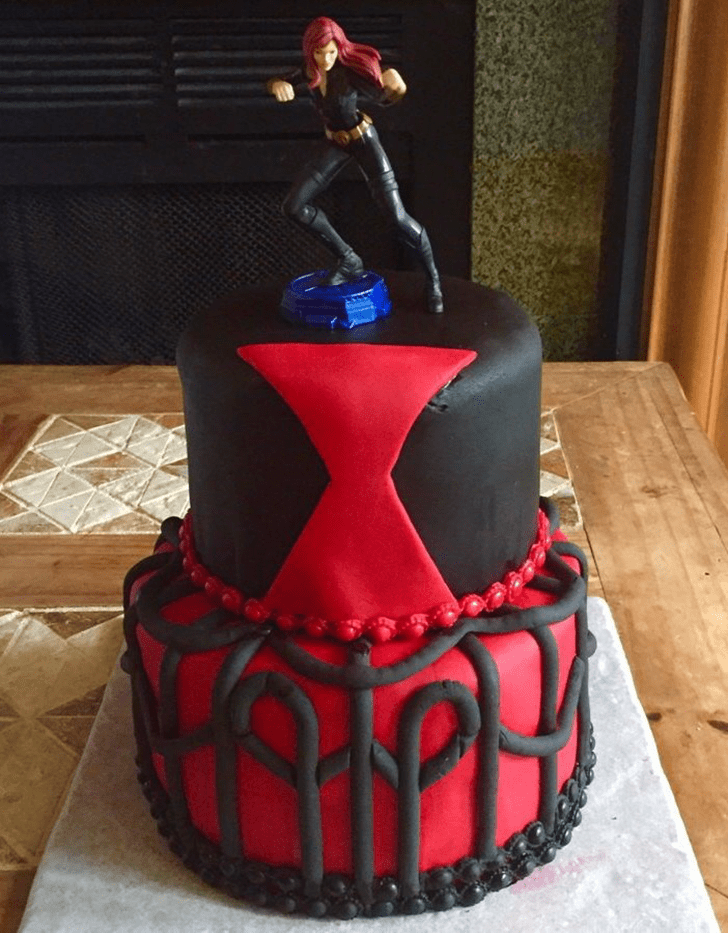 Adorable Black Widow Cake