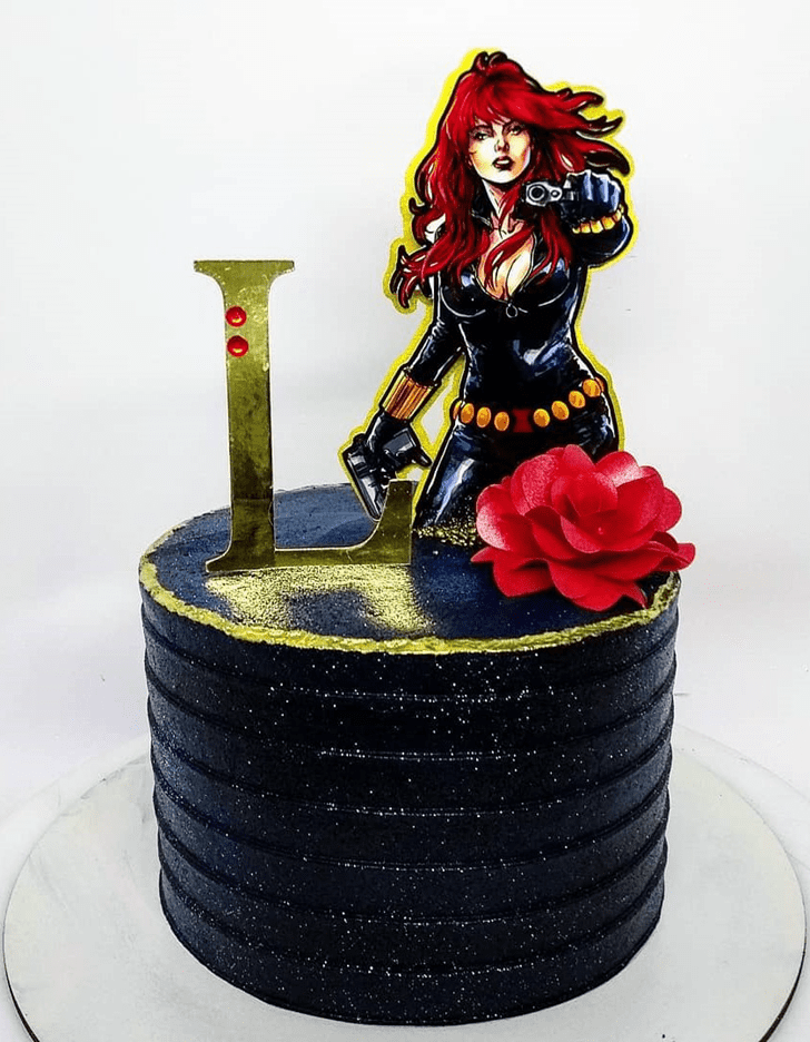 Alluring Black Widow Cake