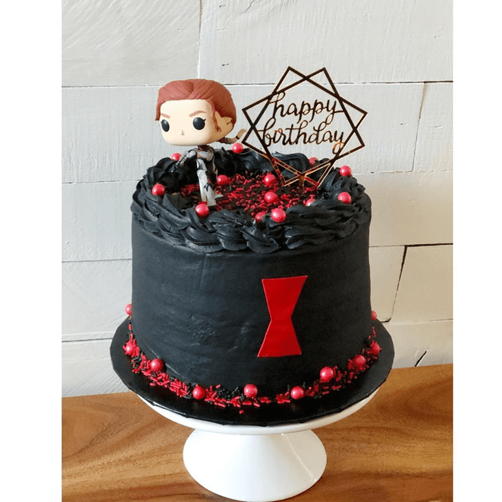 Angelic Black Widow Cake