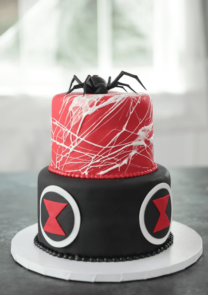 Appealing Black Widow Cake