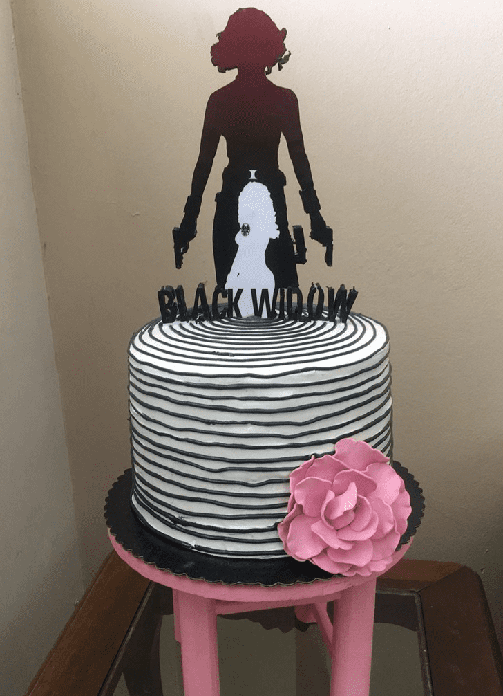 Beauteous Black Widow Cake