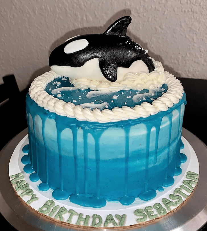 Alluring Blue Whale Cake