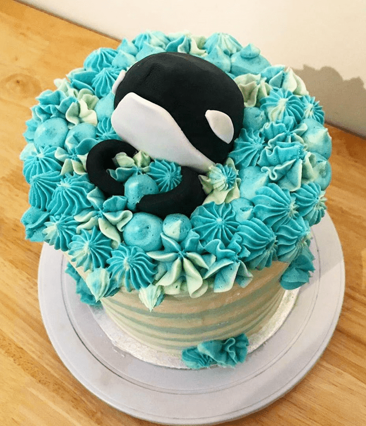 Angelic Blue Whale Cake