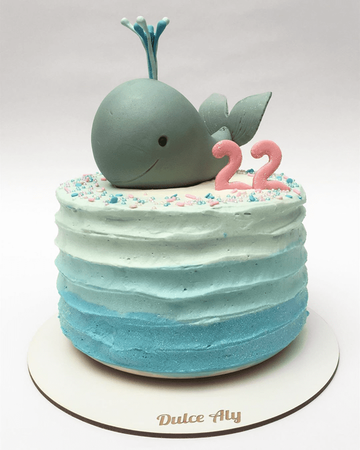Bewitching Blue Whale Cake