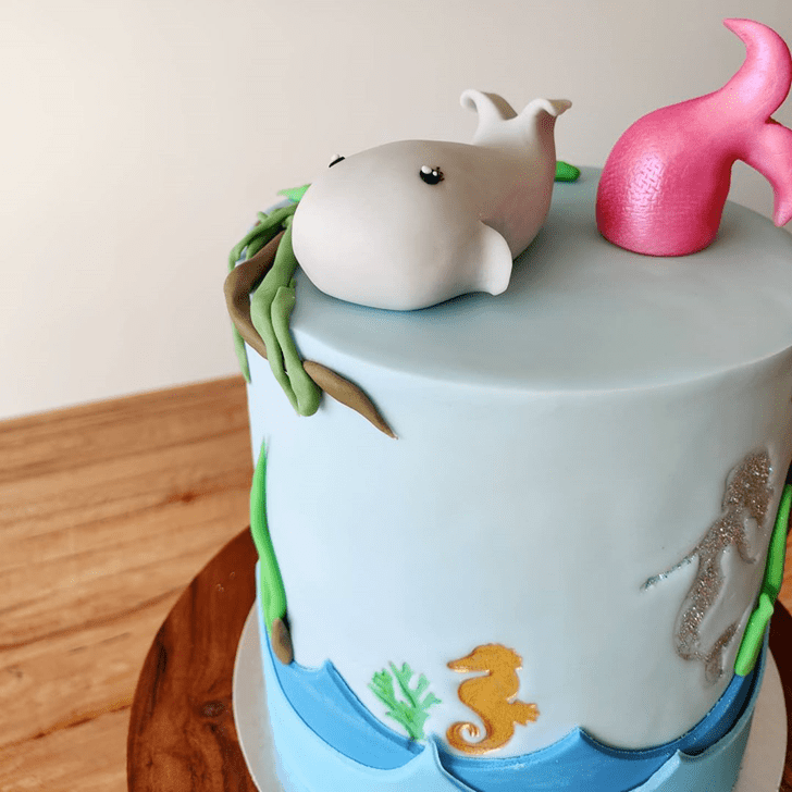 Charming Blue Whale Cake