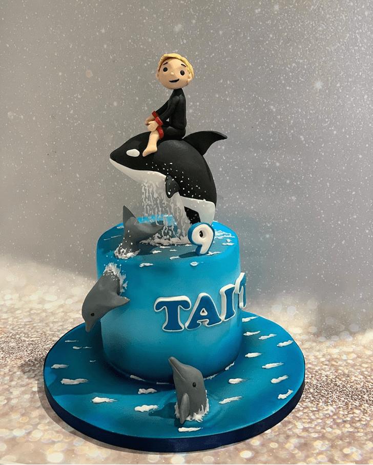 Cute Blue Whale Cake