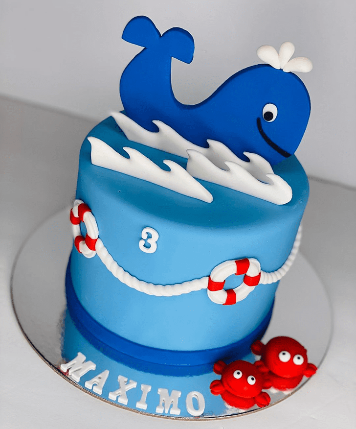 Dazzling Blue Whale Cake