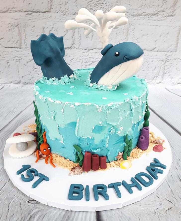 Delightful Blue Whale Cake