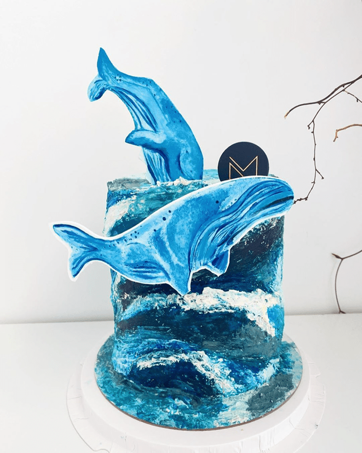 Enthralling Blue Whale Cake