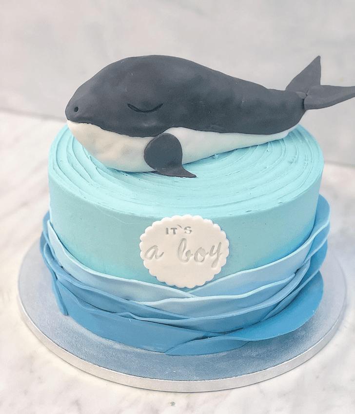 Exquisite Blue Whale Cake