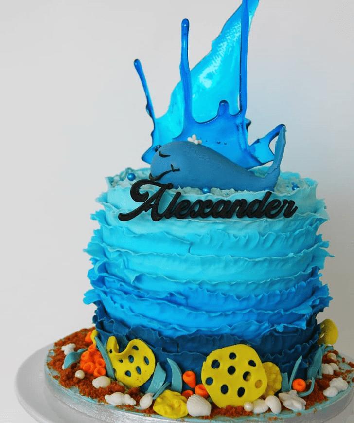 Fair Blue Whale Cake