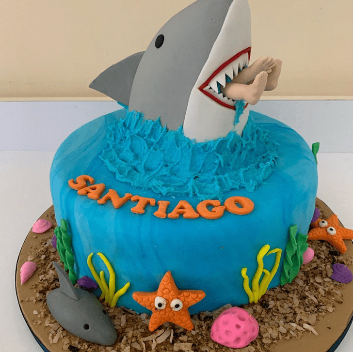 Magnificent Blue Whale Cake
