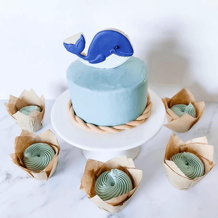 Marvelous Blue Whale Cake