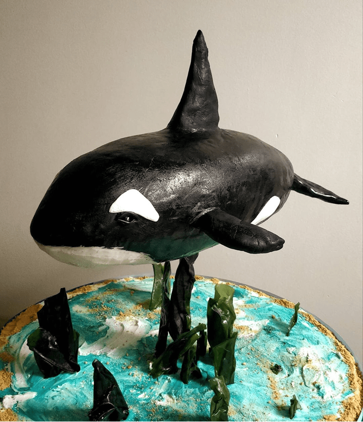 Mesmeric Blue Whale Cake