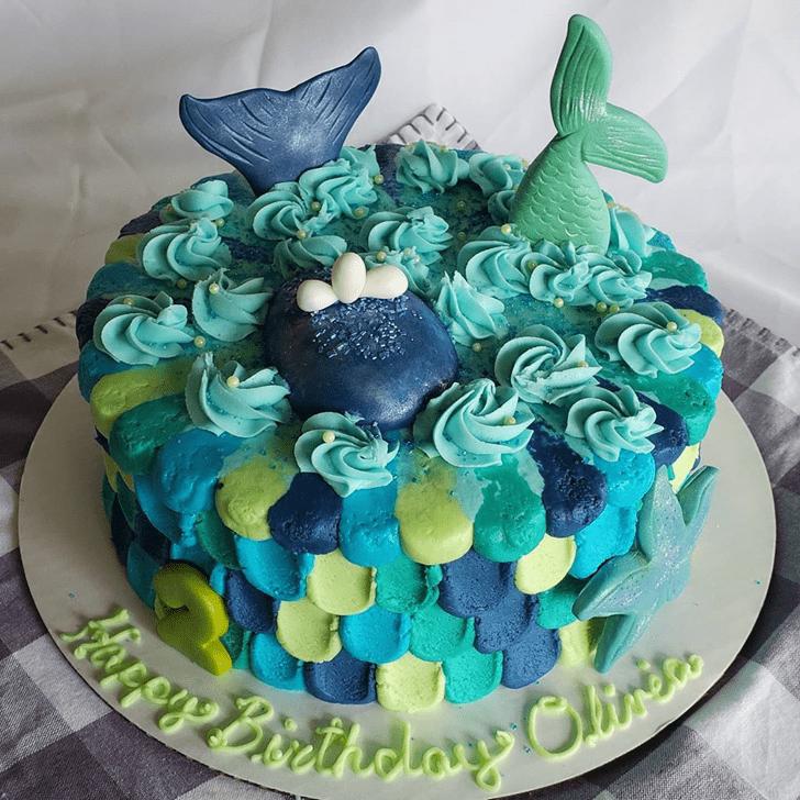 Nice Blue Whale Cake
