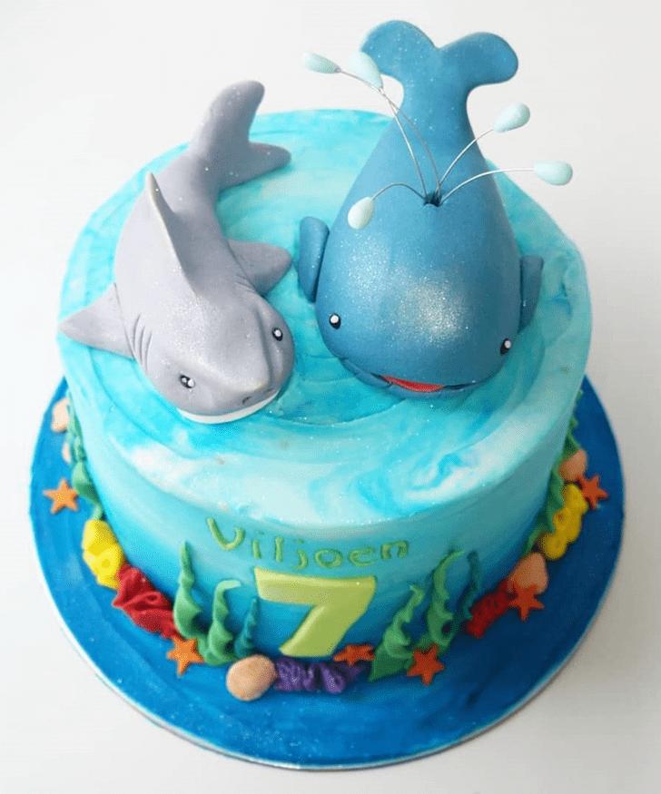Pretty Blue Whale Cake