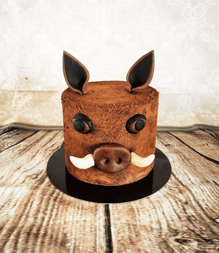 Beauteous Boar Cake
