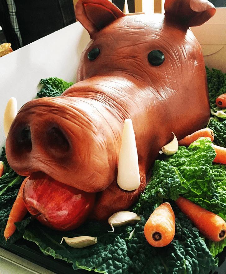 Charming Boar Cake
