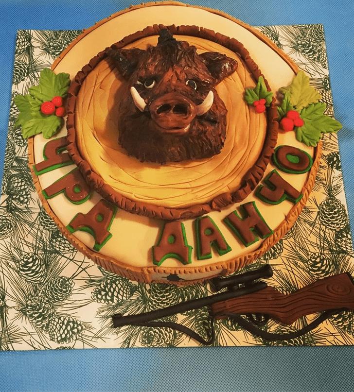 Pretty Boar Cake