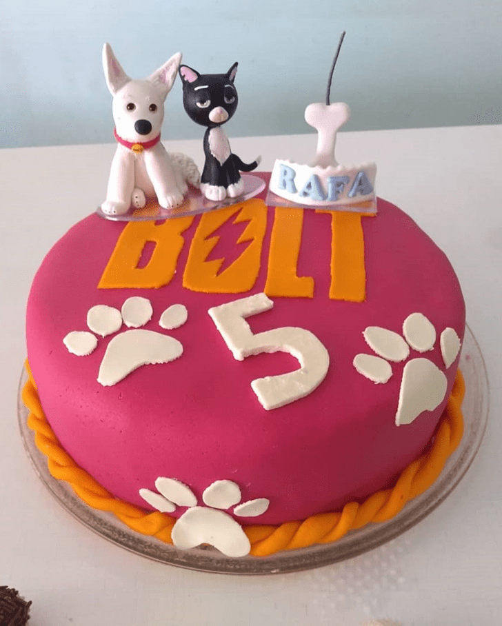 Captivating Bolt Movie Cake