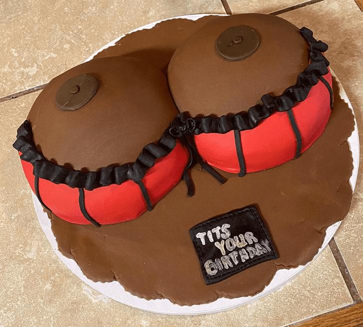 Alluring Boob Cake
