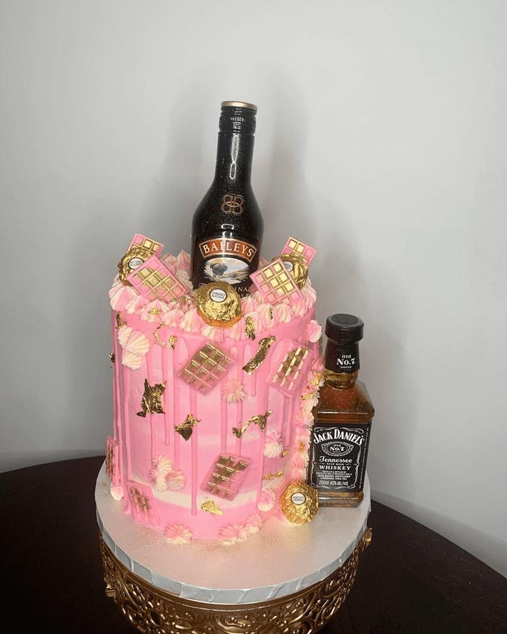 Enticing Bottle Cake