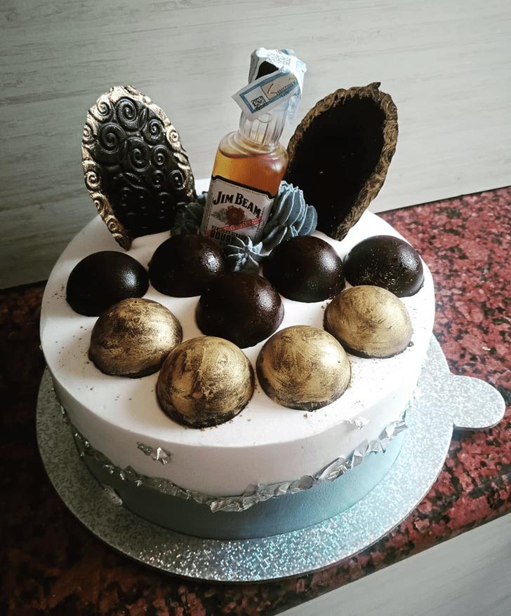 Graceful Bottle Cake