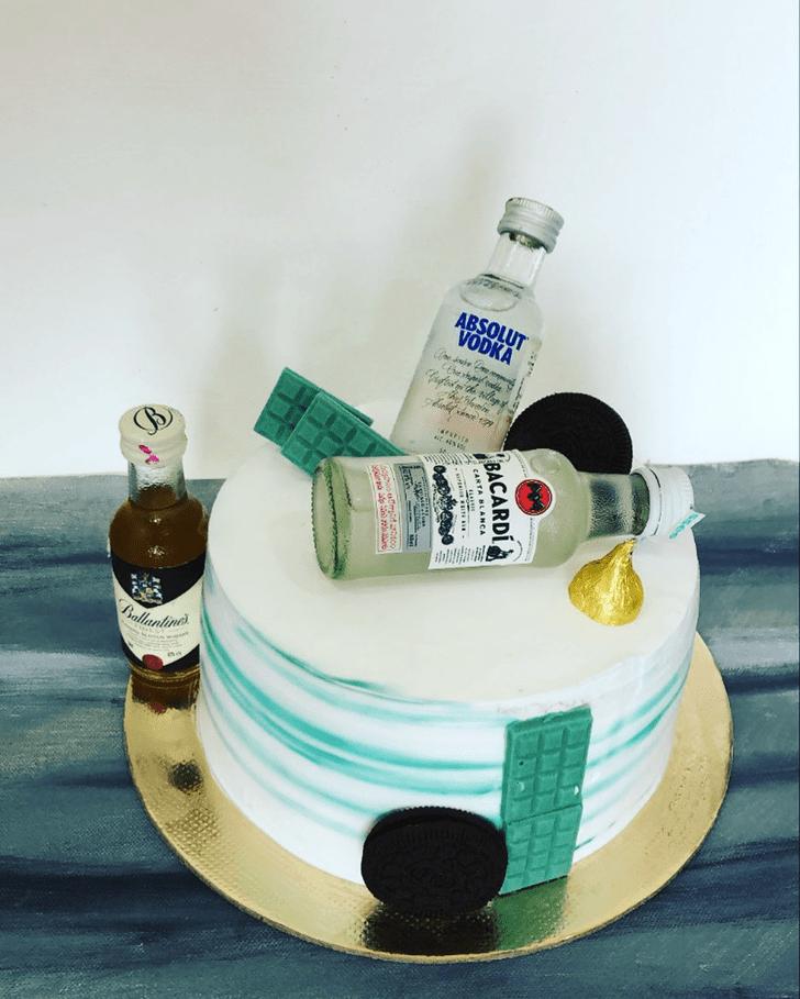 Handsome Bottle Cake