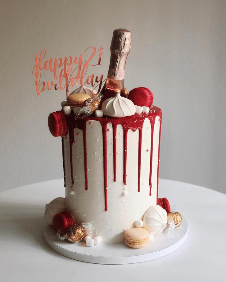 Wonderful Bottle Cake Design