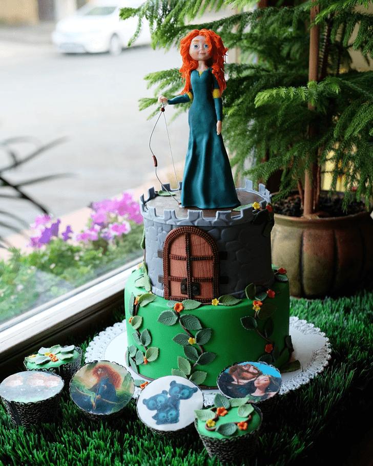 Pretty Brave Movie Cake