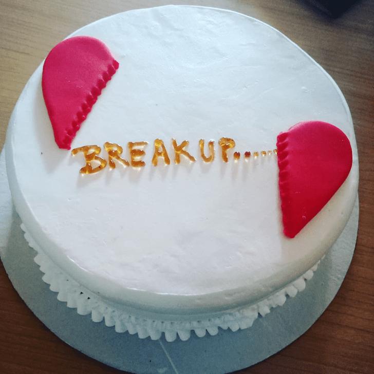 Dazzling Breakup Cake