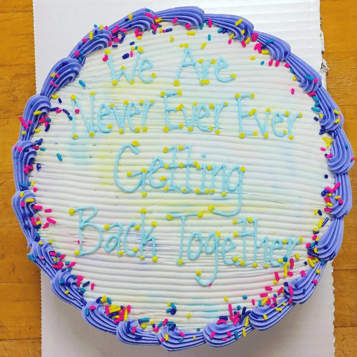 Delicate Breakup Cake