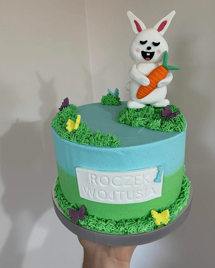 Handsome Bunny Cake