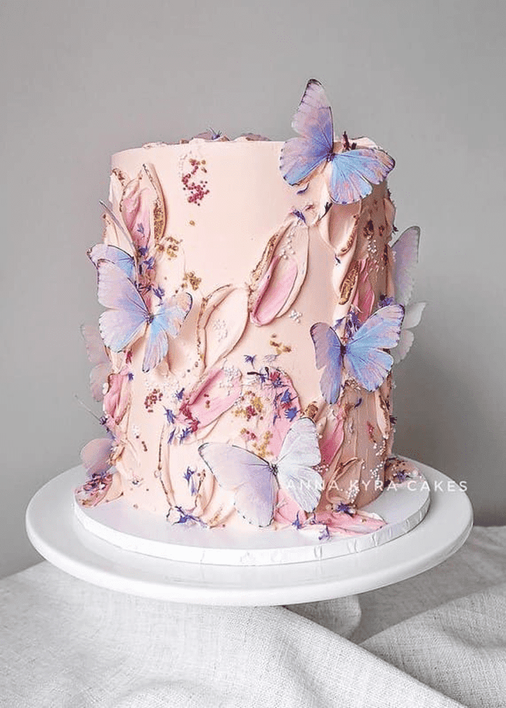 Alluring Butterfly Cake