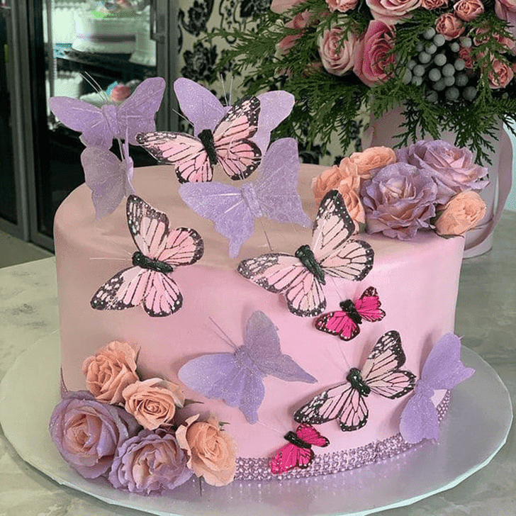 Angelic Butterfly Cake