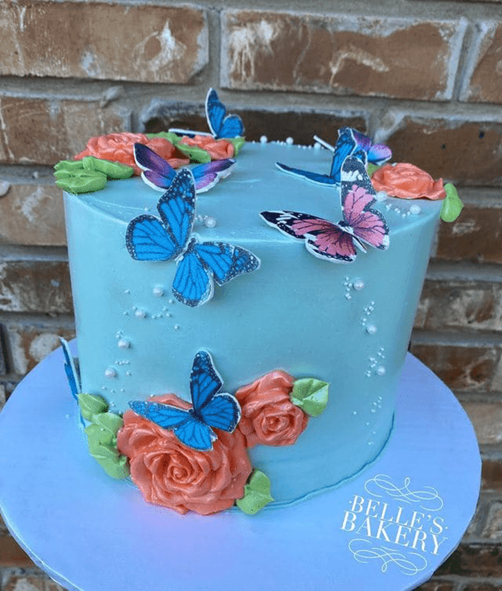 Bewitching Butterfly Cake