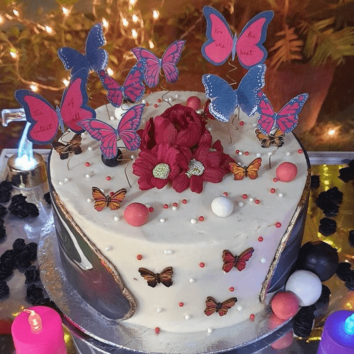 Charming Butterfly Cake