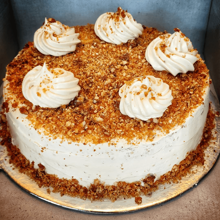 Admirable ButterScotch Cake Design