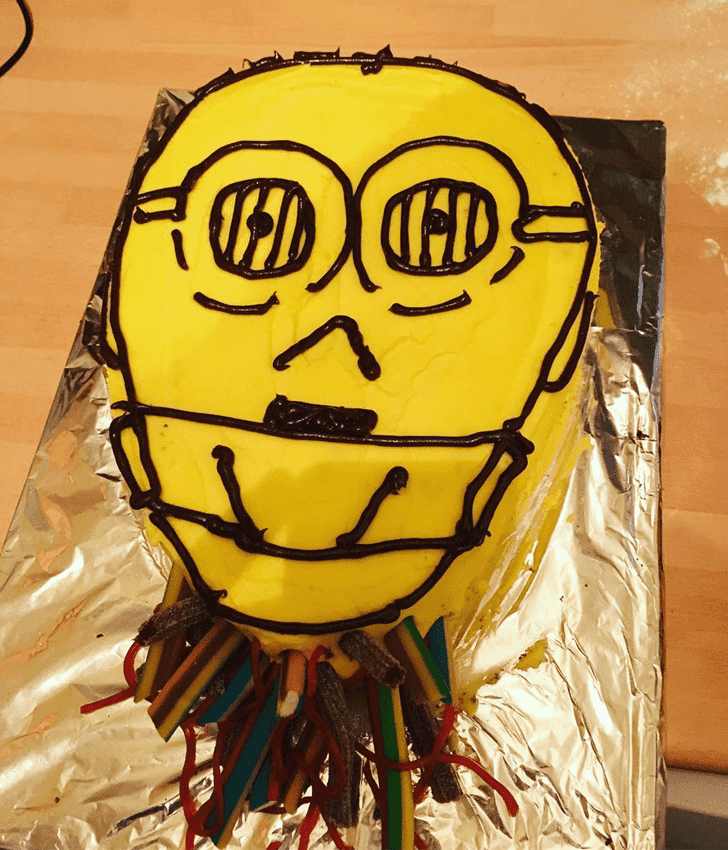 Adorable C-3PO Cake