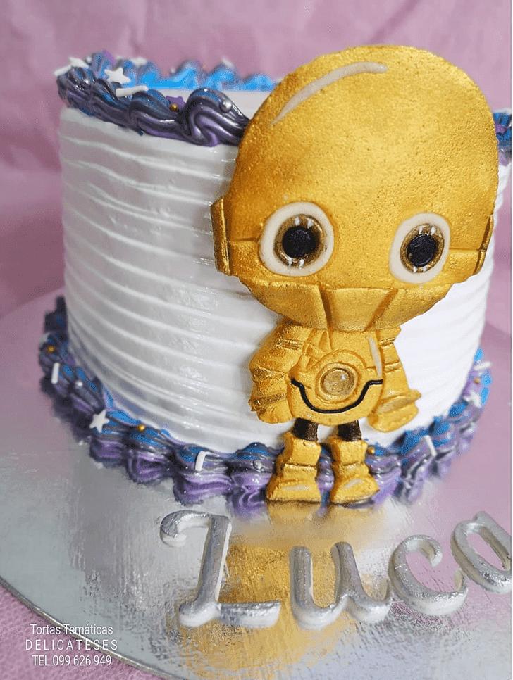 Alluring C-3PO Cake