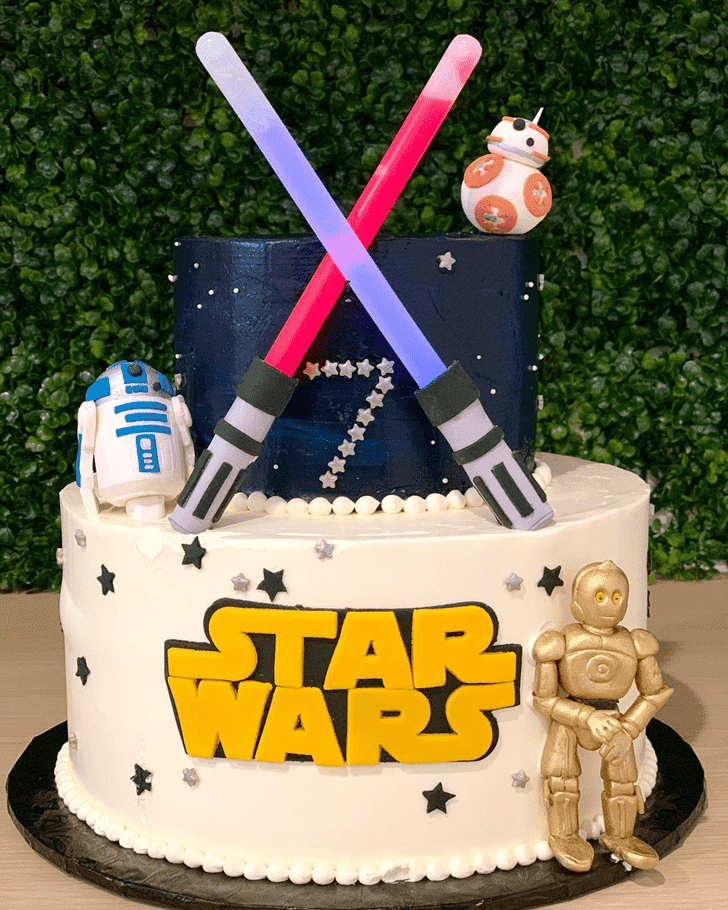 Appealing C-3PO Cake