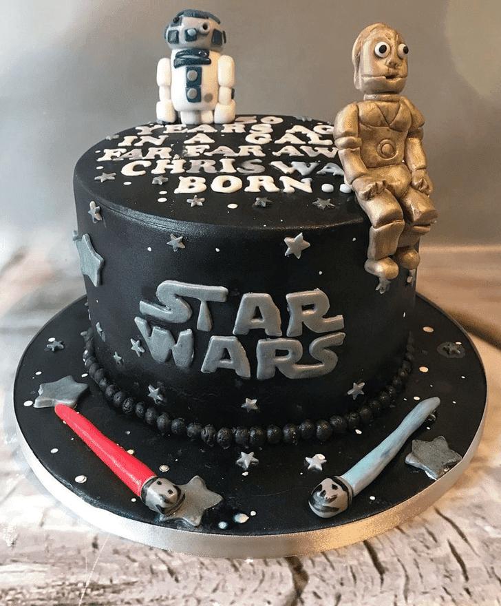Classy C-3PO Cake